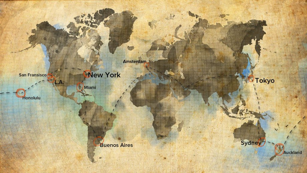 Our world-trip route